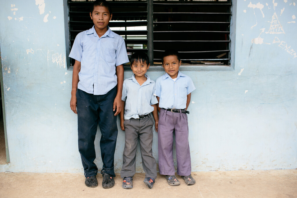 Belize: brothers posing